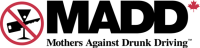 MADD Mothers Against Drunk Driving logo.